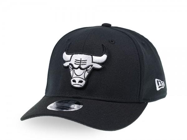 New Era Chicago Bulls Black and White 9Fifty Stretch Snapback Cap