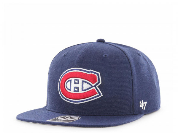 47brand Montreal Canadiens Light Navy No Shot Captain Snapback Cap