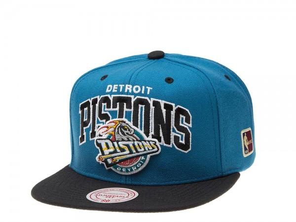 Mitchell & Ness Detroit Pistons Blue Snapback Cap