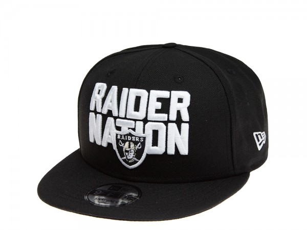 New Era Oakland Raiders Nation Black Edition 9Fifty Snapback Cap
