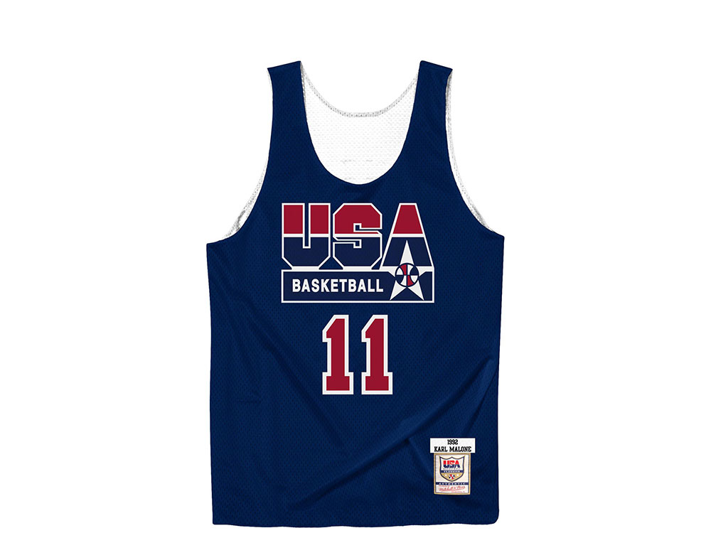 detailed look 2fed3 15704 Mitchell & Ness Dream Team - Karl Malone Authentic Reversible Practice  Jersey