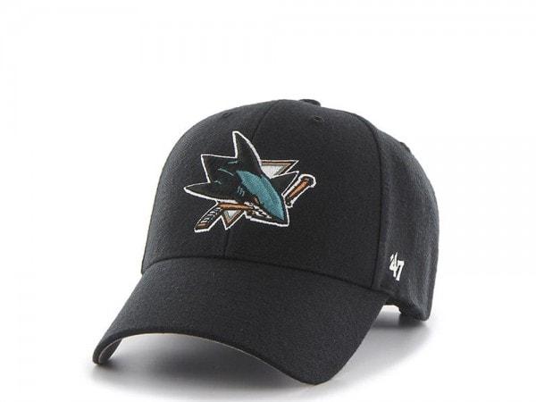 47brand San Jose Sharks Mvp Curved Adjustable Cap