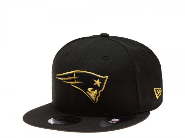 New Era New England Patriots All About Black and Gold Edition 9Fifty Snapback Cap