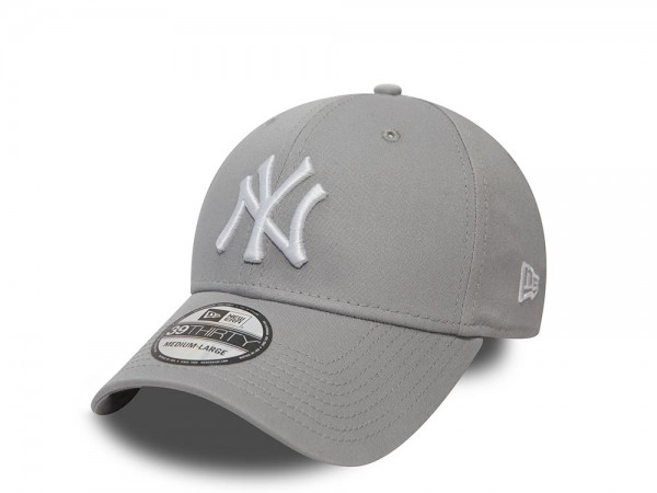 New Era New York Yankees League Basic Gray Stretch Fit 39Thirty Cap