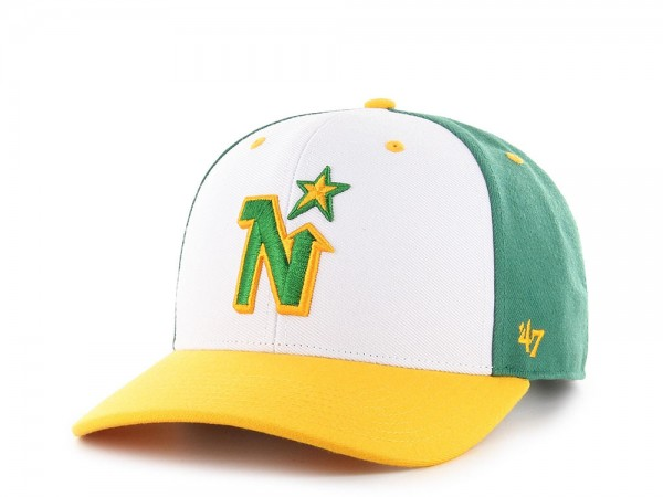 47brand Minnesota North Stars Vintage Black MVP DP Snapback Cap