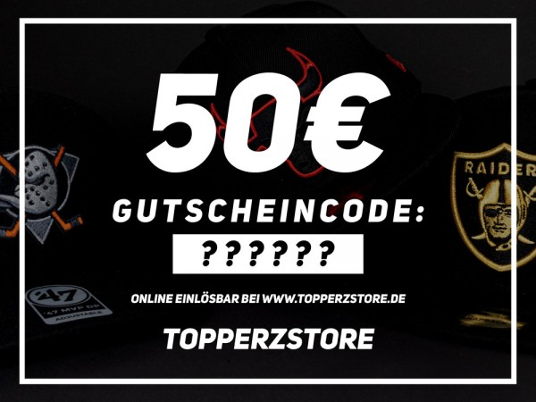 TOPPERZSTORE Gutschein 50 EURO