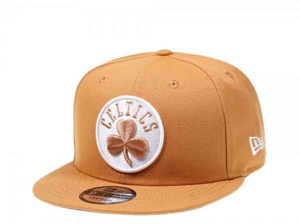 New Era Boston Celtics Panama Tan Edition 9Fifty Snapback Cap