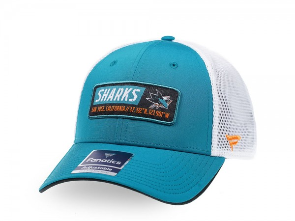 Fanatics San Jose Sharks Blue Iconic Trucker Snapback Cap