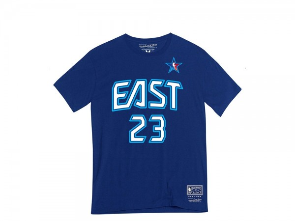 Mitchell & Ness All Star East LeBron James N&N Shirt blau