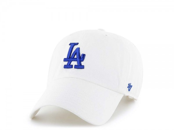 47Brand Los Angeles Dodgers Clean Up White Strapback Cap
