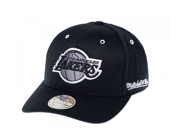 Mitchell & Ness Los Angeles Lakers White & Black 110 Flexfit Snapback Cap