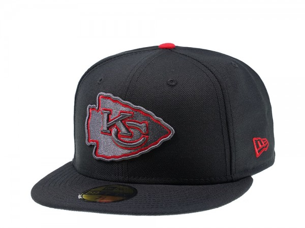 New Era Kansas City Chiefs Grey Action Edition 59Fifty Fitted Cap