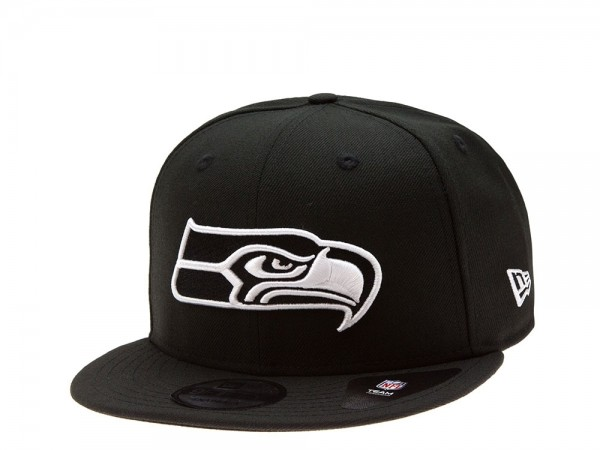 New Era Seattle Seahawks Black and White Edition 59Fifty Fitted Cap