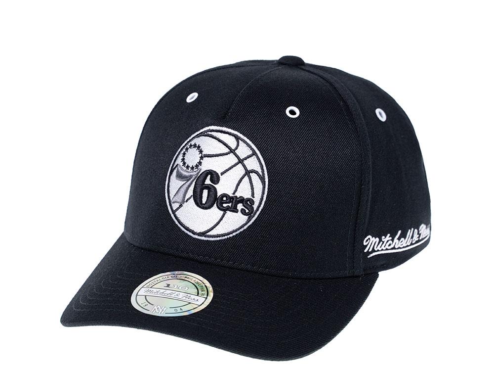 Black//White Snapback Atlanta Hawks Mitchell /& Ness 110 Flexfit Snapback