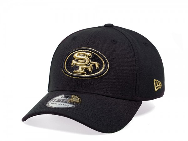 New Era San Francisco 49ers Black and Gold Edition 39Thirty Stretch Cap