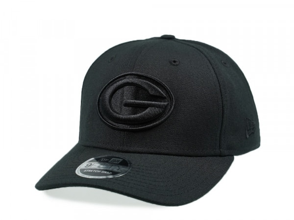 New Era Green Bay Packers Black on Black 9Fifty Stretch Snapback Cap