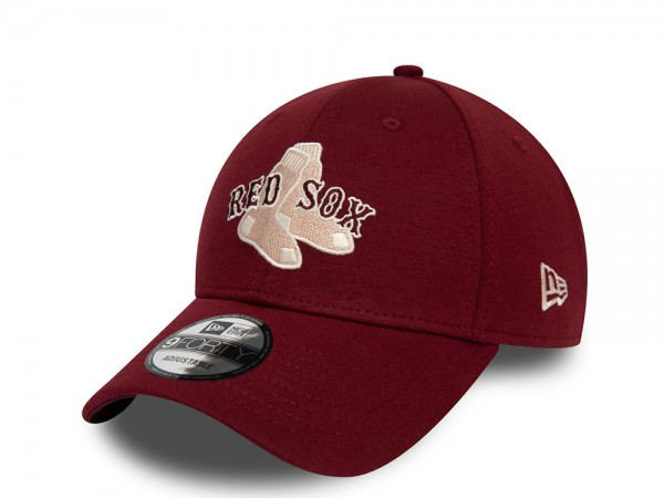 New Era Boston Red Sox Deep Red 9Forty Strapback Cap