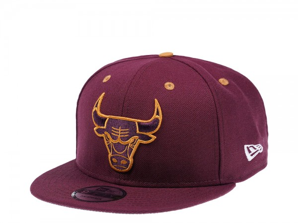 New Era Chicago Bulls Maroon Edition 9Fifty Snapback Cap