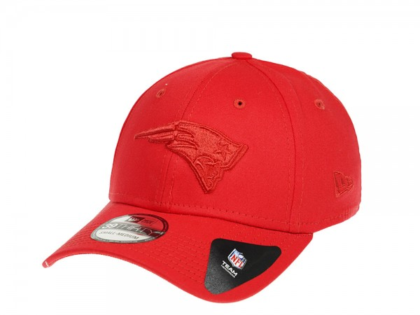 New Era New England Patriots Red on Red Stretch Fit 39Thirty Cap