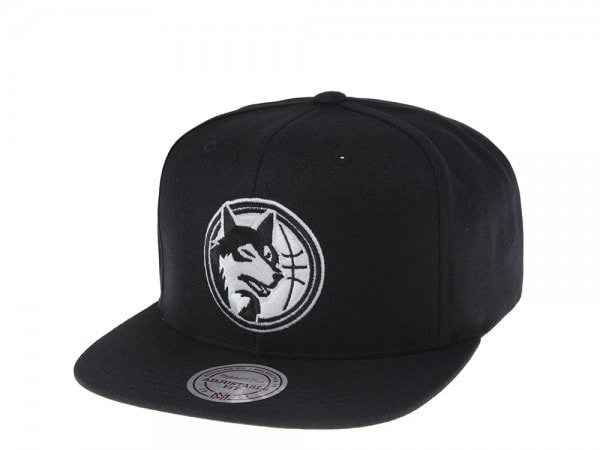 Mitchell & Ness Minnesota Timberwolves Black and White Team Snapback Cap