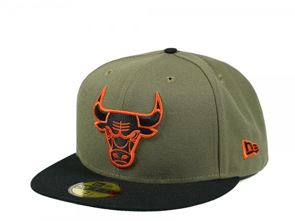 New Era Chicago Bulls Olive Black Edition 59Fifty Fitted Cap