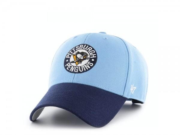 47Brand Pittsburgh Penguins Vintage Hockey MVP Strapback Cap