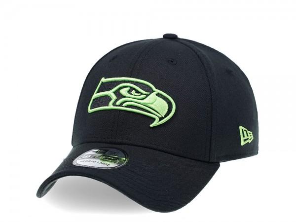 New Era Seattle Seahawks Curved Black Edition 39Thirty Stretch Cap