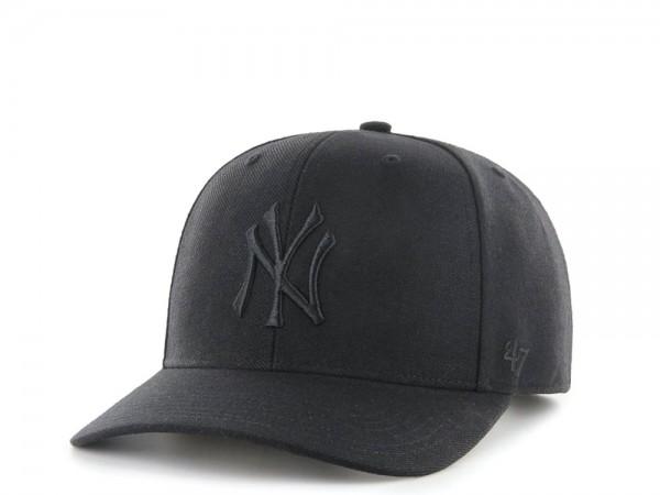 47Brand New York Yankees Cold Zone MVP DP All Black Snapback Cap