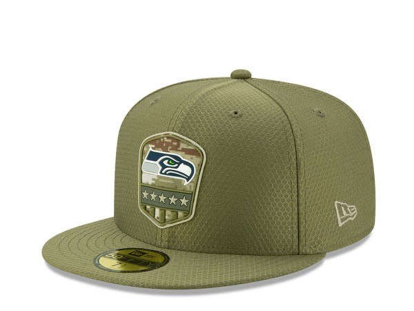 New Era Seattle Seahawks Salute to Service 2019 59Fifty Fitted Cap