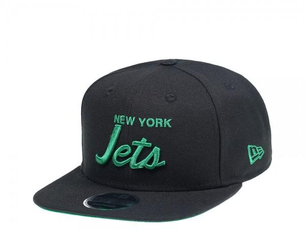 New Era New York Jets Original Fit Green Script 9Fifty Snapback Cap