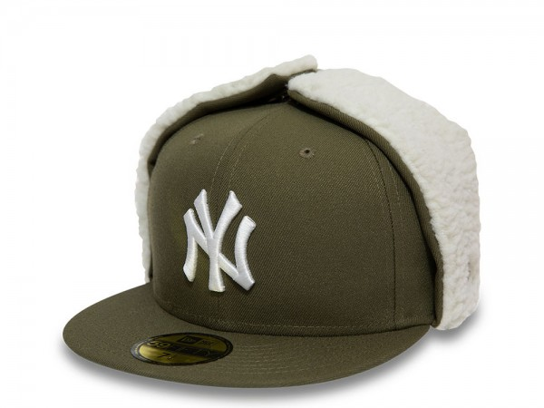 New Era New York Yankees Green 59Fifty Fitted Winter Cap