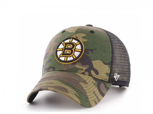 47brand Boston Bruins MVP Trucker Snapback Cap