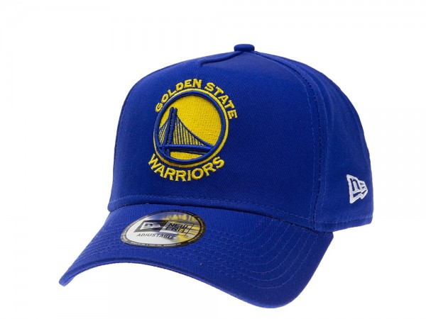 New Era Golden State Warriors Aframe Adjustable Snapback Cap