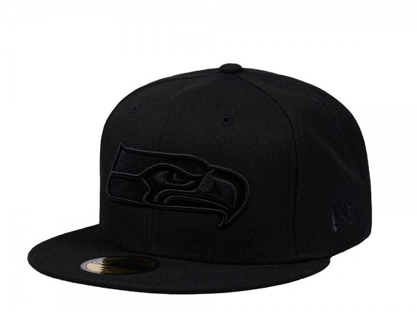 New Era Seattle Seahawks Black on Black Edition 59Fifty Fitted Cap