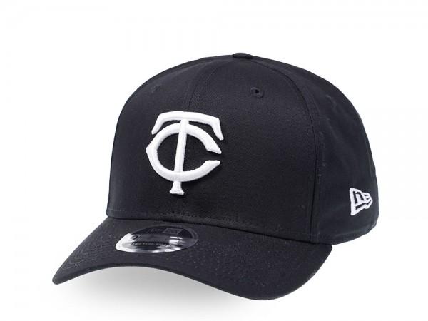 New Era Minnesota Twins Black and White 9Fifty Stretch Snapback Cap