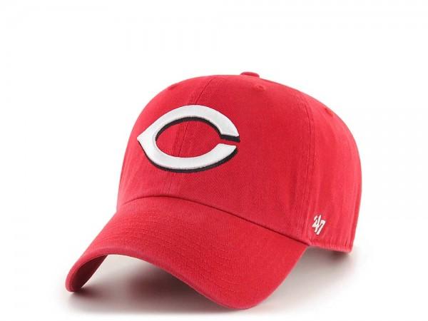 47Brand Cincinnati Reds Clean Up Strapback Cap