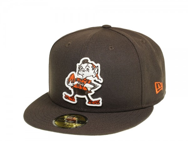 New Era Cleveland Browns Heritage Logo 59Fifty Fitted Cap
