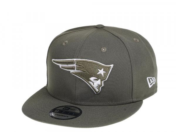 New Era New England Patriots Olive 9Fifty Snapback Cap