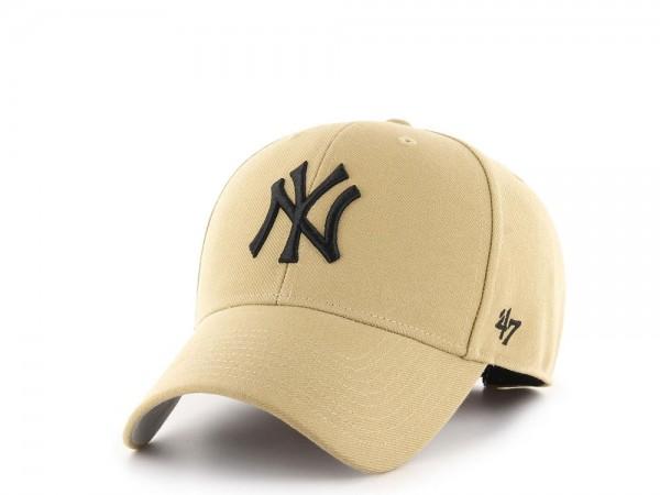47Brand New York Yankees MVP Old Gold Strapback Cap