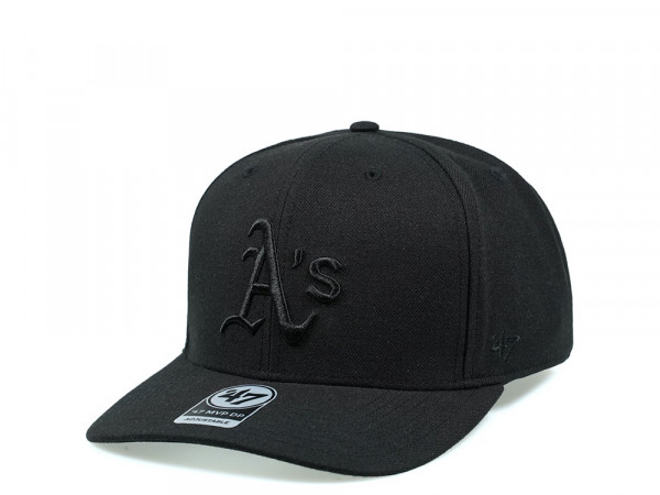 47Brand Oakland Athletics Cold Zone MVP DP All Black Snapback Cap