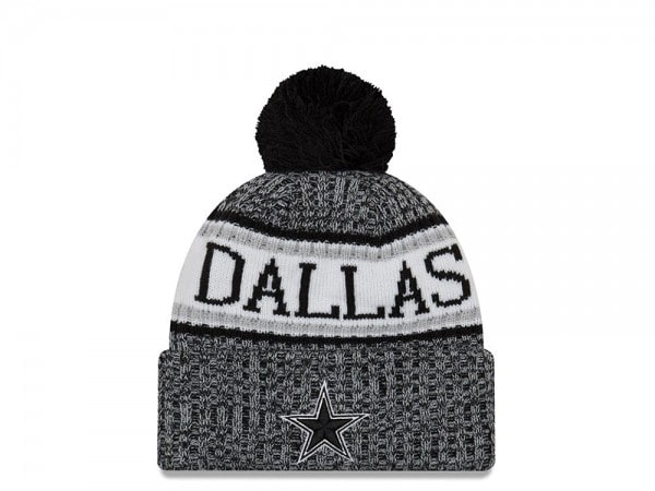 New Era Dallas Cowboys Black & White Sideline 2018 Mütze