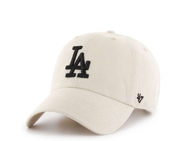 47Brand Los Angeles Dodgers Clean Up Stone White Strapback Cap