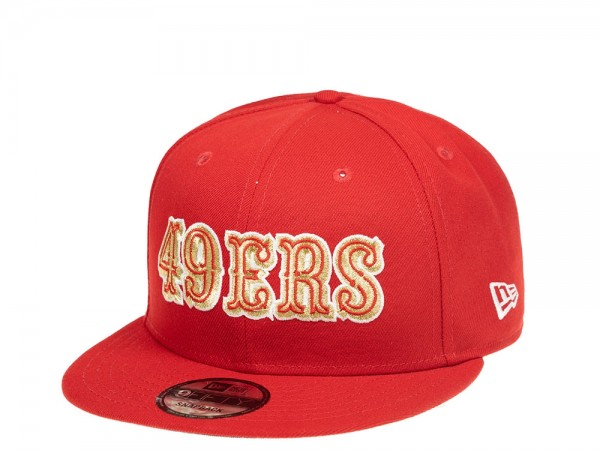 New Era San Francisco 49ers Scarlet Gold Edition 9Fifty Snapback Cap