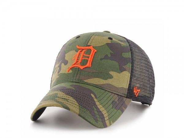 47brand Detroit Tigers MVP Trucker Camo Snapback Cap
