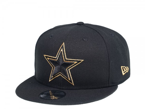 New Era Dallas Cowboys All About Black and Gold 9Fifty Snapback Cap