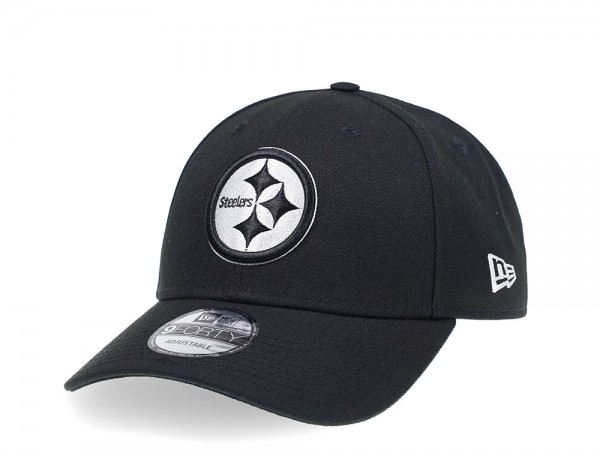 New Era Pittsburgh Steelers Curved Black Edition 9Forty Strapback Cap