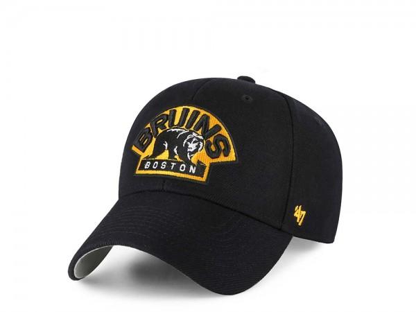 47Brand Boston Bruins MVP Black Strapback Cap