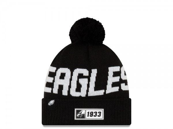New Era Philadelphia Eagles Sideline 2019 Road Black Mütze