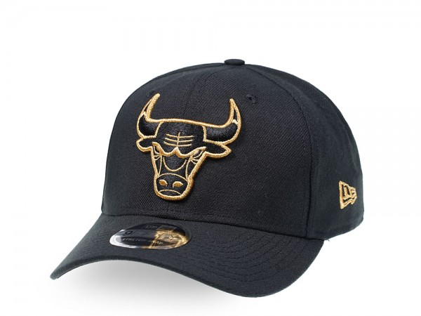 New Era Chicago Bulls All About Black and Gold 9Fifty Stretch Snapback Cap