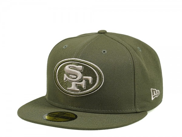 New Era San Francisco 49ers Army Green Edition 59Fifty Fitted Cap